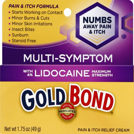 Gold Bond Medicated Pain and Itch Relief Cream with Lidocaine