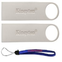 Kingston (TM) Digital 16 GB (Two Pack) 16GB DataTraveler SE9 G2 USB 3.0 Flash Pen Drive (DTSE9G2/16GB) with (1) Everything but Stromboli (TM) Lanyard
