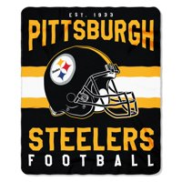 "NFL Pittsburgh Steelers ""Singular"" 50"" x 60"" Fleece Throw"