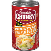(6 Packs) Campbell's Chunky Pub-Style Chicken Pot Pie Soup, 18.8 oz