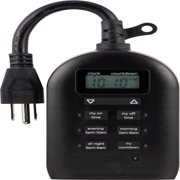 myTouchSmart Programmable Outdoor Plug-In Digital Timer, 2-Outlets, 26898