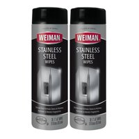 (2 Pack) Weiman Stainless Steel Wipes, 30ct