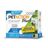 PetAction Plus Flea and Tick Treatment for Small Dogs, 6 Monthly Treatments