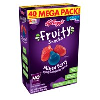 Kellogg's Mixed Berry Fruity Snacks Pouches, 32 Oz., 40 Count