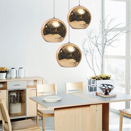 Clearance Vintage Clear Glass Globe Pendant Oil Kitchen Hanging Lamp Antique Brass Hanging Fixture Glass Drop Ball Ceiling -