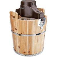 Oster Wooden Bucket Ice Cream Maker, 4 Quart (FRSTIC-WDB-001)