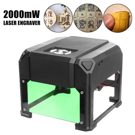 2000mW USB Desktop Laser Engraving Machine Mark Logo Marking Engraver Carver DIY
