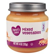 Parent's Choice Baby Food, Mixed Vegetables, Stage 2, 4 oz