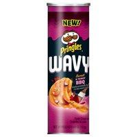 (4 pack) Pringles Wavy Sweet & Tangy Bbq Crisps 4.8oz