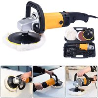 """Zimtown 7"""" Auto Car Paint Polisher/Buffer Waxer Electric 6 Variable Speed,110V,1200W"""