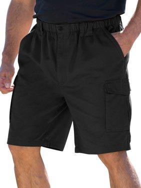 "Boulder Creek Men's Big & Tall 9"" Renegade Cargo Shorts With Full Elastic Waist"