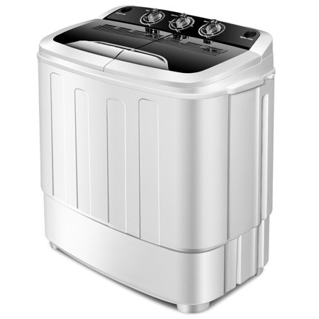 Gymax Compact Mini Twin Tub 8lbs Washing Machine Washer Spinner - image 10 of 10