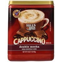 (6 Pack) Hills Bros. Double Mocha Cappuccino Instant Coffee Powder Drink Mix, 16 Ounce Canister