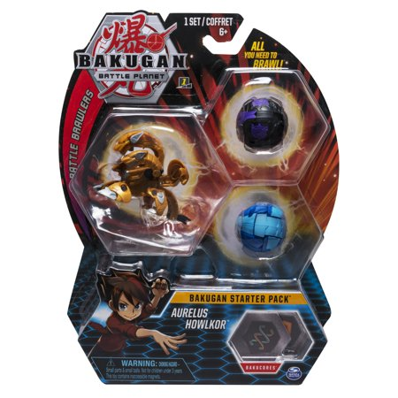 - Bakugan Starter Pack 3-Pack, Aurelus Howlkor, Collectible Action Figures, for Ages 6 and Up