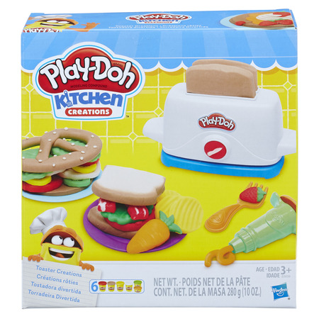 Play-Doh Kitchen Creations Toaster Creations Food Set with 6 Cans of Dough - Ninja Turtle Play Doh