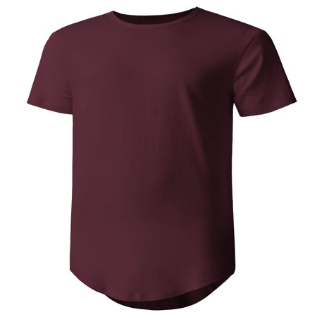 Men's Casual Longtail T-Shirts Hip Hop Urban (Best Hip Hop Style Clothing)