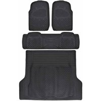 BDK Super Duty Rubber Floor Mats for Car SUV and Van with Cargo Mat, All Weather, Heavy Duty, 3 Colors
