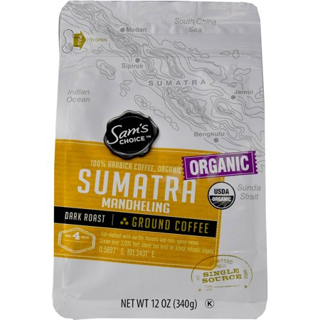 - Sam's Choice Sumatra Mandheling Ground Coffee, 12 oz