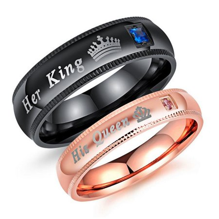 Contemporary Comfort Fit Wedding Ring (Couple's Matching Ring