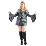 805bad15c12420 Halloween Psychedelic Swirl Disco Diva Women's Plus Costume