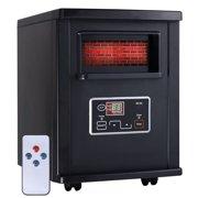 1800 Sq. Ft Electric Portable Infrared Quartz Space Heater Remote Black