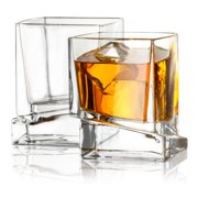 9de4ba252ce5 JoyJolt Carre Square Whiskey Glass 10 oz. Cocktail Glass (Set of 2). Price