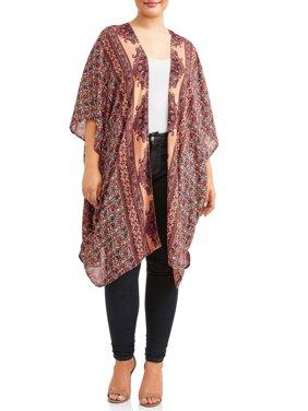 Women's Plus Size Kimono Duster