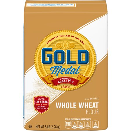 Gold Medal Whole Wheat Flour, 5 lb Bag Brulee 5 Lb Bag