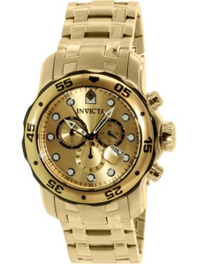 Invicta Men's Pro Diver 80070 Gold Stainless-Steel Swiss Chronograph Dress Watch