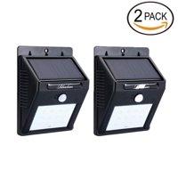 Solar LED Lights Solar Sensor Motion Light 12 LED Outdoor Lamp Waterproof 2 Pack