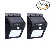 Solar LED Lights Solar Sensor Motion Light 12 LED Outdoor Lamp Waterproof 2 Pack