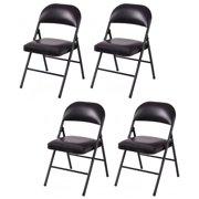 Costway Sponge Padded Folding Chair (Set of 4)