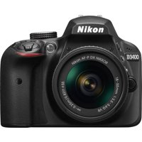 Nikon D3400 Digital SLR Camera with 24.2 Megapixels and 18-55mm Lens Included