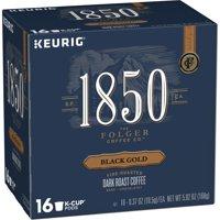 1850 Black Gold, Dark Roast Coffee, K-Cup Pods for Keurig Brewers, 16-Count