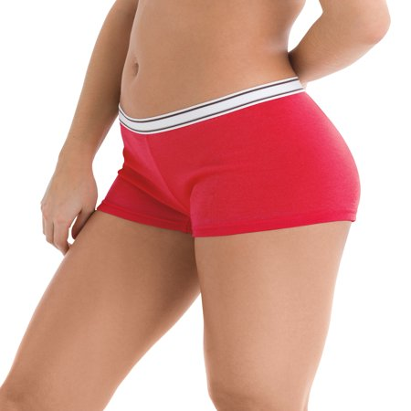 Women's Sporty Cotton Boyshort Panties - 6 Pack