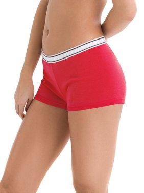 Women's Sporty Cotton Boyshort Panties - 6 Pack