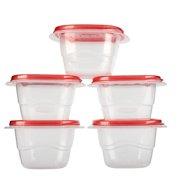 Rubbermaid TakeAlongs 17 oz Mini Deep Squares Containers + Lids, 5 count
