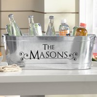 Personalized Galvanized Tailored Style Tub