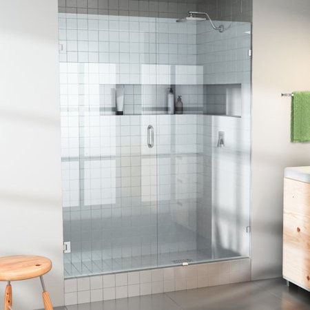 - Glass Warehouse 31'' x 78'' Hinged Frameless Shower Door