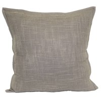 "Better Homes & Gardens Textured Solid Decorative Throw Pillow, 20"" x 20"", Taupe"