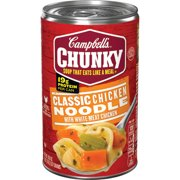 (6 Packs) Campbell's Chunky Classic Chicken Noodle Soup, 18.6 oz