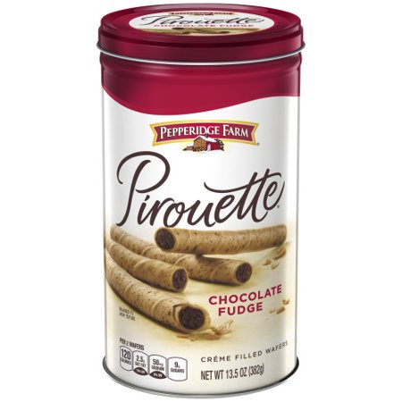 Pepperidge Farm Pirouette Crème Filled Wafers Chocolate Fudge Cookies, 13.5 oz. Tin