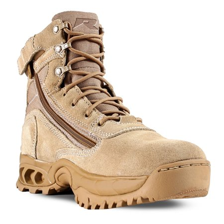 Ridge Footwear 3003Z Desert Storm Quarterboot Zipper Tactical Boots