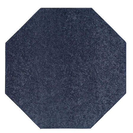 - Saturn Collection Solid Color Area Rugs Petrol Blue - 10' Octagon
