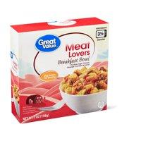Great Value Meat Lovers Breakfast Bowl, 7 oz