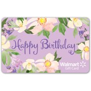 Floral Birthday Walmart Gift Card