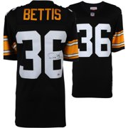 efc1d3e761a Jerome Bettis Pittsburgh Steelers Autographed Black Authentic Mitchell    Ness Jersey with HOF 15 Inscription -