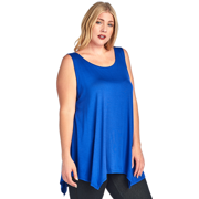 9d1427b0e452a Plus Size Curvy Women s Casual High Low Tank Top MADE IN USA