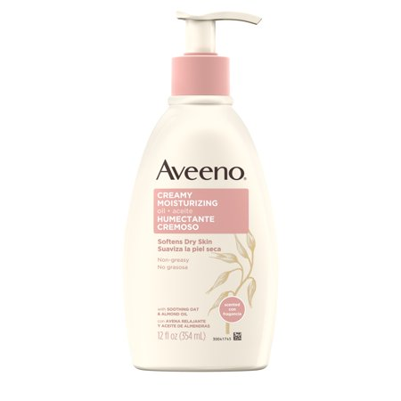 Aveeno Non-Greasy Creamy Moisturizing Body Oil for Dry Skin, 12 fl. oz