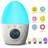 FiveHome Kids Alarm Clock Touch Control Wake Up Light Alarm Clock, Colour Changing Night Light & Dimmable Warm Light,Dual Alarms, 5 Nature Sounds,Sleep Timer,USB Rechargeable
